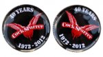 "COCK SPARRER: ""40th Anniversary"" Button"