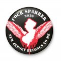 "COCK SPARRER: ""NJ Belongs To Me"" Pin"