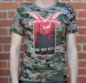 "COCK SPARRER: ""Here We Stand"" Camo T-Shirt"
