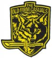 "THE OLD FIRM CASUALS ""Wolf/Knife"" 4"" Embroidered Patch"