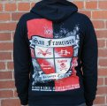 "RANCID / COCK SPARRER - ""S.F. Belongs To Us"" Zip-Up Hoodie!"