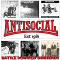 "ANTISOCIAL: ""Battle Scarred Skinheads"" 12"" LP"