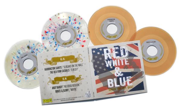 Red White Amp Blue 2x7 4 Way Split Ppr059 4 99